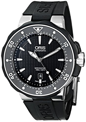 Oris-Mens-73376827154RS-Divers-Titanium-Automatic-Watch-with-Black-Rubber-Band