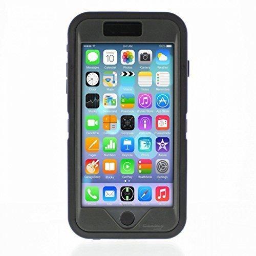 iPhone 6 plus - Glass Tech Ruggedized Case - Black - Smoke (Angular Breeze compare prices)