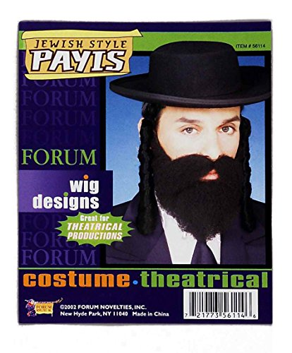 Forum Novelties Men's Theatrical Costume Adult Jewish Style Payis