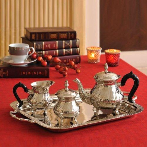 Elvy Tea set tray in Nickel
