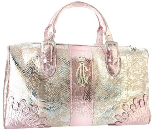CHRISTIAN AUDIGIER Ed Hardy Womens Handbag Satchel Metallic Leather
