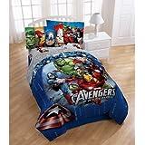 Disney Marvel Avengers Assemble 5pc Full Bedding Comforter & Sheet Set