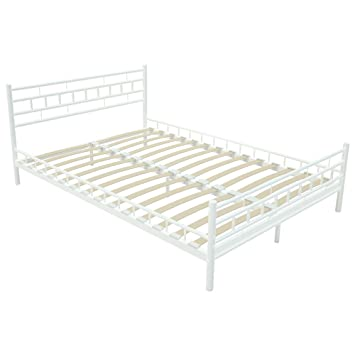Miadomodo mtbt03 1 cama de metal 140 x 200 cm for Cama full medidas