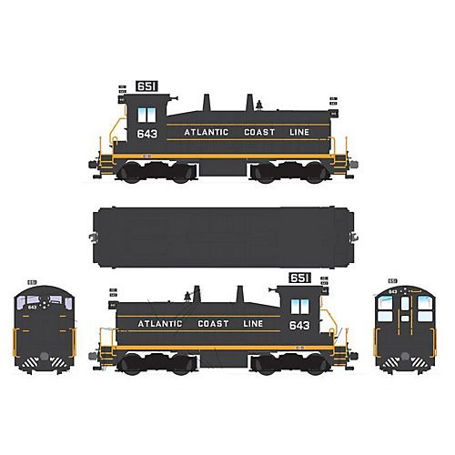 Broadway Limited HO Scale SW7 Phase II w/DCC & Sound, ACL #651