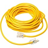 50 ft - 16/3 300V SJT Extension Cord Lighted End Prong for Indoor + Outdoor use