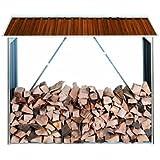 Tepro 7159 abri à bûches en tôle d'acier aspect bois