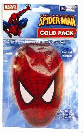 Marvel Spiderman Cold Pack - favorite Superheroe pain relieve and cold treatment keen pain massager for the pain in knee joint and osteoarthritis knee treatment