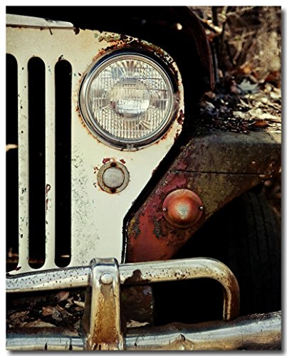 Vintage Jeep Art - Car Photography - 'The Jeep Willys' - WWII Jeep Willys Picture - Classic Car Decor (Classic Car Photography compare prices)
