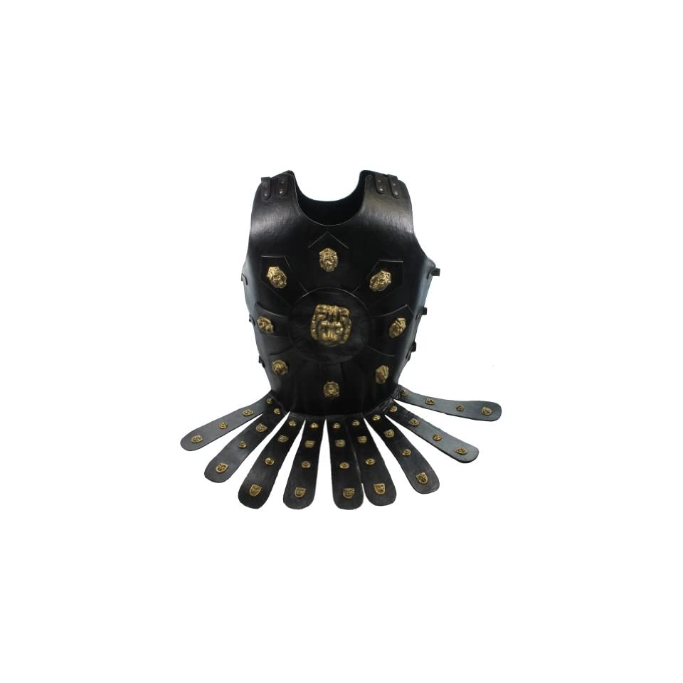 RedSkyTrader Mens Lion head Chest Plate Armor   Leather One Size Fits Most Black