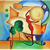 """Dolls Of India """"Man And The Earth"""" Reprint On Paper - Unframed (59.69 X 57.15 Centimeters)"""