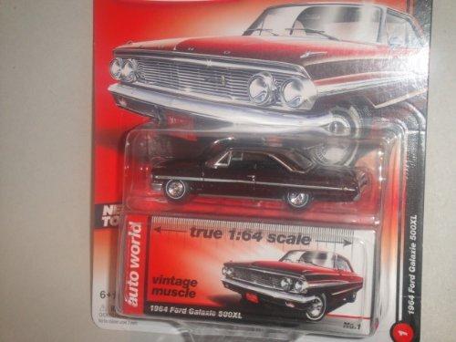 おもちゃ Auto World オートワールド VINTAGE MUSCLE SERIES 1964 ford フォード Galaxie ギャラクシー 500XL 1:64 scale スケール Diecast ダイキャスト レプリカ ミニチュア ミニカー 模型 車 飛行機 [並行輸入品]