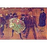 51g8frpK5iL. SL160  Professionally Framed Henri de Toulouse Lautrec Ball at Moulin Rouge Art Poster   11x17 with RichAndFramous Black Wood Frame
