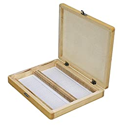 Microscope Slide Wooden Box Holding 100 Piece Slides