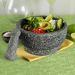 8-1/2 inch Natural Stone Mortar and Pestle