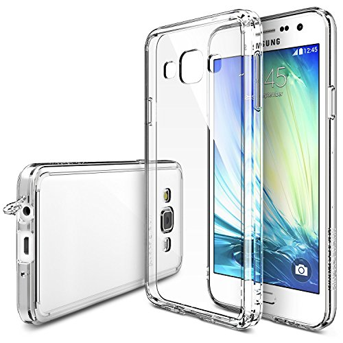 Galaxy-A5-2014-Case-Ringke-Fusion-Crystal-Clear-PC-Back-TPU-Bumper-w-Screen-Protector-Drop-ProtectionShock-Absorption-TechnologyAttached-Dust-Cap-For-Samsung-Galaxy-A5-1st-Gen-Clear