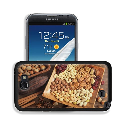 Variety Of Nuts Spice Healthy Food Samsung Galaxy Note 2 Snap Cover Case Premium Leather Customized Made To Order Support Ready 6 Inch (152Mm) X 3 2/8 Inch (82Mm) X 4/8 Inch (13Mm) Luxlady Galaxy_Note_2 Professional Cases Touch Accessories Graphic Covers