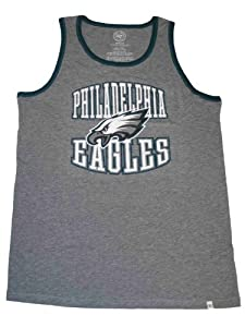 Philadelphia Eagles 47 Brand Gray Faded Sleeveless Cotton Tank Top T-Shirt by