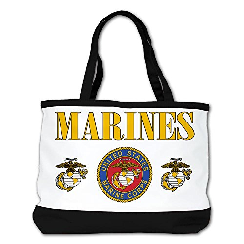 Royal Lion Marines Us Marine Corps Seal Shoulder Handbag Black
