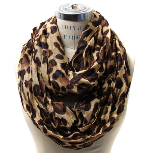 Scarfands Leopard Infinity Scarf Camel