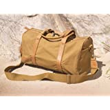 Explorer Canvas/ Leather Travel Bag (tan)by Sandstorm Kenya