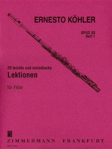 20-leichte-und-melodische-lektionen-op-93-heft-1-fur-flote-solo-in-fortschreitender-schwierigkeit