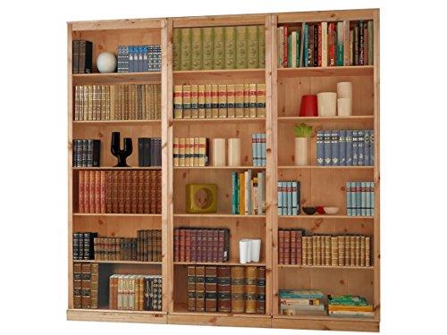 Bcherregale-Bibliotheksregale-METEORA-Kiefer-massiv-Hartholz-gebeizt-gelt-wei-havanna-3-gebeizt-gelt