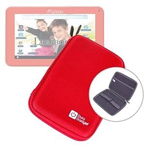 Etui rouge rigide de transport pour tablette tactile enfant Lexibook Tablet Master 2 MFC157FR - fermeture éclair