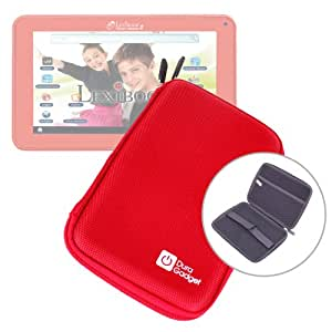 Etui rouge rigide de transport pour tablette tactile enfant Lexibook Tablet Master 2 MFC157FR - fermeture éclair