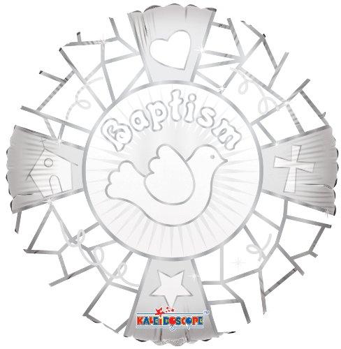 "Baptism Mylar Balloons 18"" White Dove (3 ct) - 1"