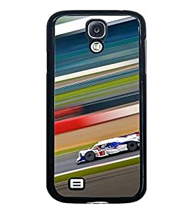 Fuson Premium 2D Back Case Cover Race car With black Background Degined For Samsung Galaxy S4 Mini::Samsung Galaxy S4 Mini i9190