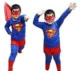 nijuhスーパーマン子供用コスチューム仮装ハロウィン
