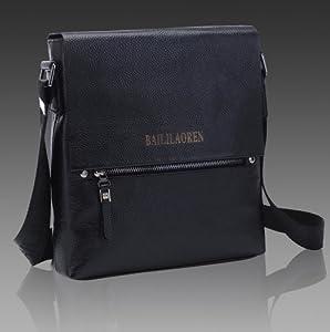 MyLux Men 100% Genuine Leather Ipad 4 Messenger bag 158 black by Cuffu online
