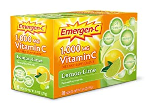 Emergen-C 1000mg Lemon and Lime Flavour Drink 30 Sachets: Amazon.co.uk: Health & Beauty