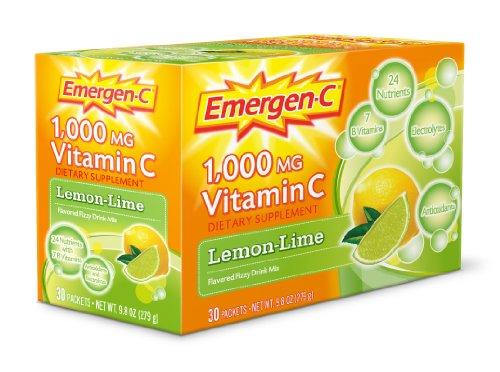 Emergen-C 1000mg Lemon and Lime Flavour Drink 30 Sachets