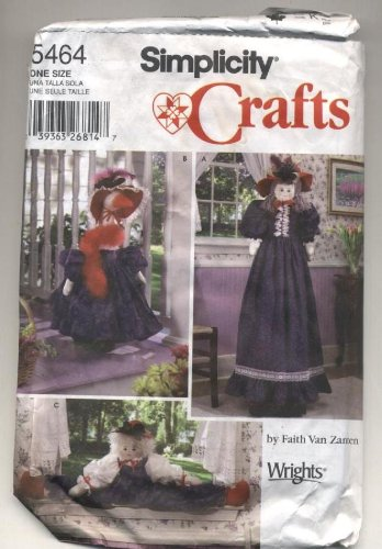 OOP Simplicity Crafts Pattern 5464. Vacuum Cleaner Cover, Lawn Goose Clothing, + Boy Doll Draft Stopper (Goose Clothes Patterns compare prices)