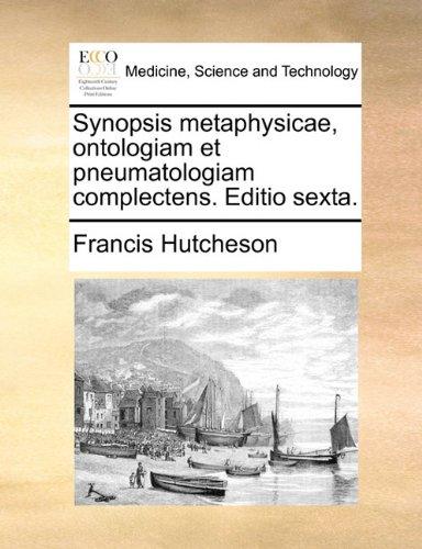 Synopsis metaphysicae, ontologiam et pneumatologiam complectens. Editio sexta.