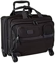 Tumi Alpha Ballistic Business 4 Wheel Deluxe Brief with Laptop Case, Black, One Size