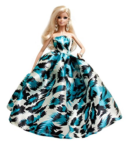 Blue Print Prom Dresses for Barbie Doll