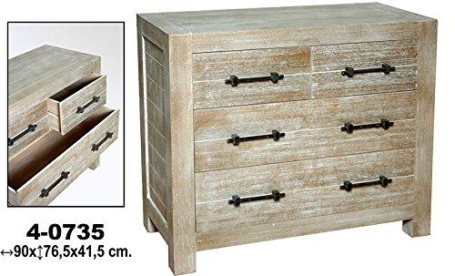 Comoda C/4cassetti legno