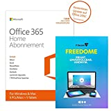 Digital Software - Microsoft Office 365 Home - 5PCs/MACs - 1 Jahresabonnement - multilingual (Product Key) [Download] + F-Secure Freedome VPN