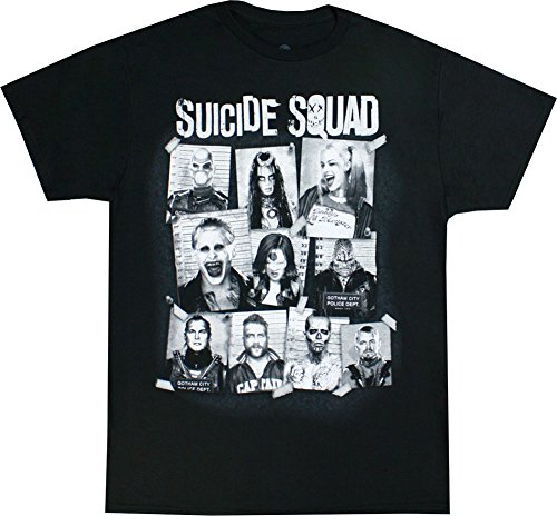 Suicide Squad Group Cork Board T-shirt