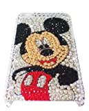 [WG] MICKEY MOUSE Apple iPod Touch 4th Generation 4G iTouch 4 Full Diamond Rhinestones Bling Jeweled BACK PIECE Protector Case + FREE WirelessGeeks247 Detachable Neck Strap / Lanyard