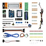 RoboGets Arduino Uno R3 Starter Kit with All Sensors & Plastic Box for Robotics & Electronics (Color: E11 Learning and Startet Kit (Sensors), Tamaño: Large)