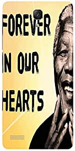 Snoogg Mandela In Our Hearts Case Cover For Xiaomi Redmi Note