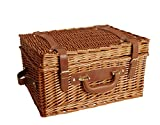 Wald Imports Willow Picnic Basket, 17-Inch