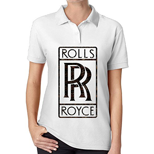 ZXHCKH Women's Rolls Royce Seek Logo Pique Polo Shirt (Rolls Royce Polo compare prices)