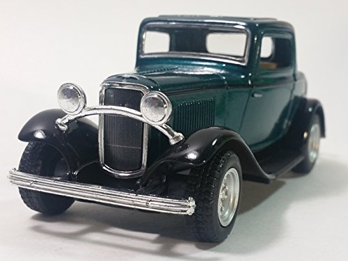 Kinsmart Green 1932 Ford 3 Window Coupe Hardtop 1/34 Scale Diecast Sports Car (1932 Ford 5 Window Coupe compare prices)