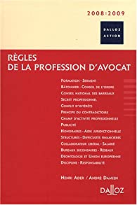 Règles de la profession d'avocat par Ader