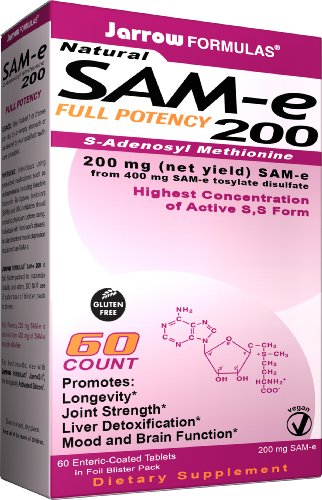 Jarrow Formulas Sam-e 200mg, 60 Tablets