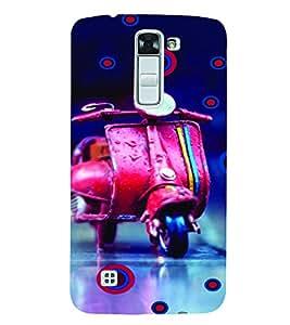 PrintVisa Travel Girl Colorful 3D Hard Polycarbonate Designer Back Case Cover for LG K7